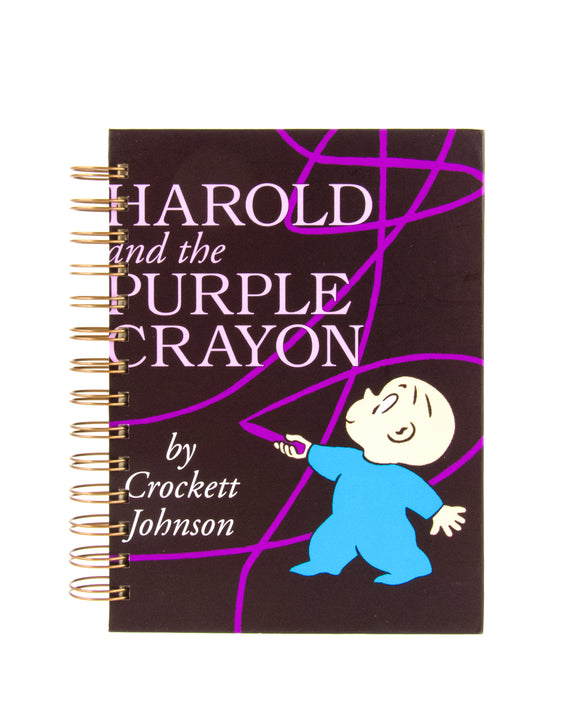 upcycled book journal or notebook from Harold and the Purple Crayon used book