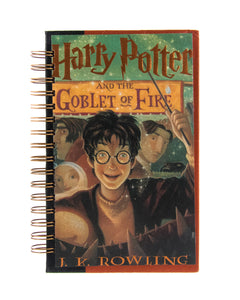 upcycled  book journal or notebook from Harry Potter and the Goblet of Fire used book