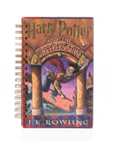 upcycled  book journal or notebook from Harry Potter and the Sorcerer's Stone used book