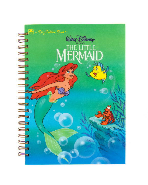 journal or notebook made from used The Little Mermaid book