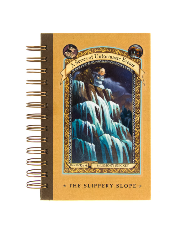 Upcycled Book Journal Notebook Lemmony Snicket Slippery Slope