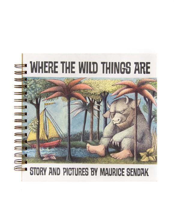 upcycled  book journal or notebook from Where the Wild Things Are used book