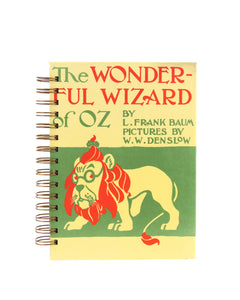 journal or notebook from Wizard of Oz vintage book