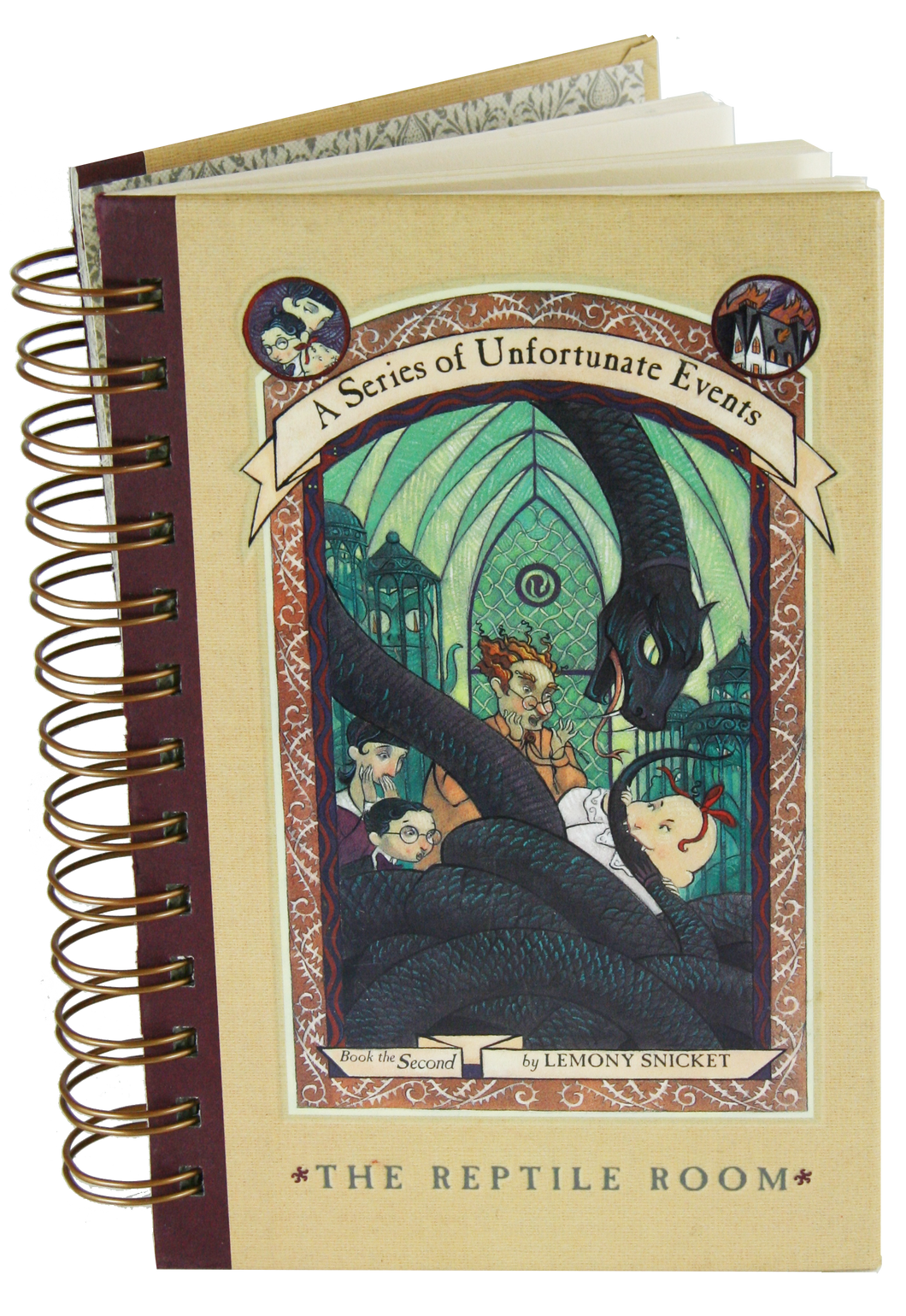 Lemony Snicket The Reptile Room Upcycled Book Journal