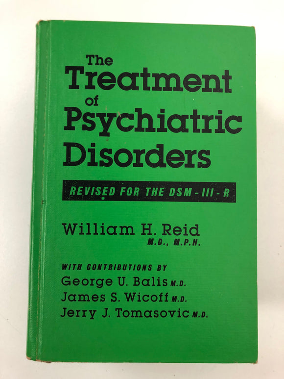 The Treatment of Psychiatric Disorders-Red Barn Collections