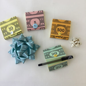 Monopoly Post-It Note Holders-Red Barn Collections