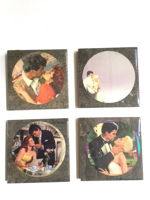 Romance Coasters, Mild, Set of 4-Red Barn Collections