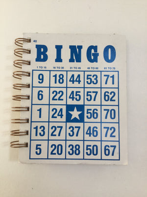 Bingo Mini Notebook (White/Blue)-Red Barn Collections