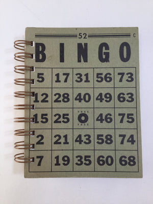 Bingo Mini Notebook (Gray/Black)-Red Barn Collections