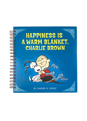 Happiness is a Warm Blanket, Charlie Brown Book Journal-Red Barn Collections