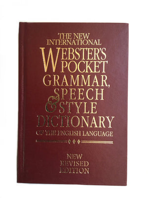 The New International Webster's Pocket Grammar, Speech & Style Dictionary-Red Barn Collections