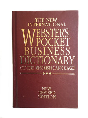 The New International Webster's Pocket Business Dictionary-Red Barn Collections