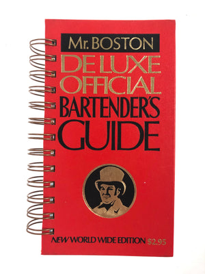 Mr. Boston Deluxe Official Bartender's Guide Journal-Red Barn Collections