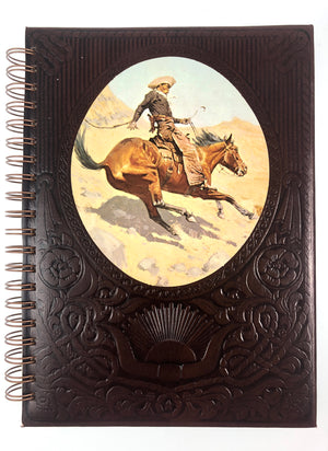 Vintage Western Cowboy Notebook-Red Barn Collections