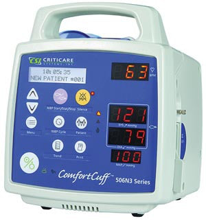 Criticare VitalCare™ 506N3 Series Patient Monitor, NIBP, Heart Rate, DOX SpO2, Printer, 506DNP3
