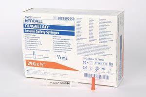 Covidien/Medical Supplies Magellan™ Insulin & Tb Safety Syringe, 8881892910