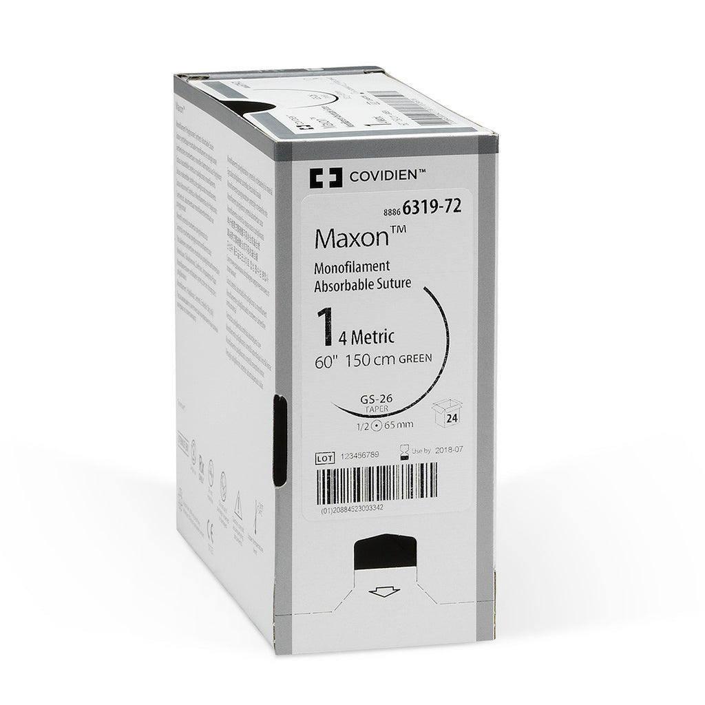 Covidien/Surgical Devices Maxon™ Monofilament Synthetic Absorbable Sutures, 8886661851