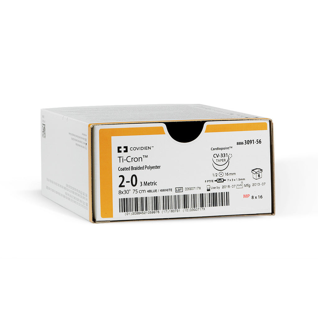 Covidien/Surgical Devices Ti-Cron™ Polyester Sutures, 8886337962
