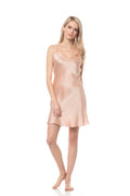 CHLOE Slip Dress in Peach or Grey