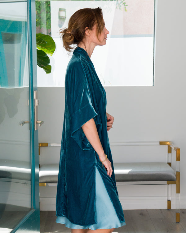 ISABEL in Velvet Moroccan Teal