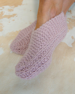 KNIT SLIPPERS in Baby Alpaca
