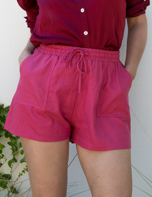Jolie Shorts in Raspberry