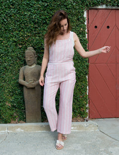 JADA Overalls in Red/Pink Stripe