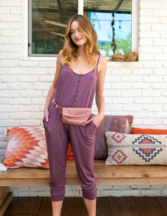 Gigi Jumpsuit in Mauve