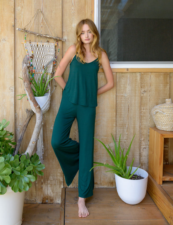 Cece Pant in Hunter Green