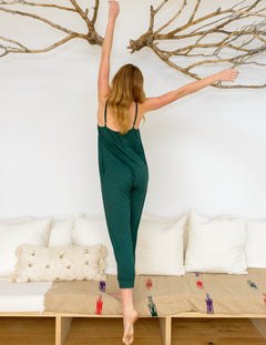 Gigi Jumpsuit in Hunter Green