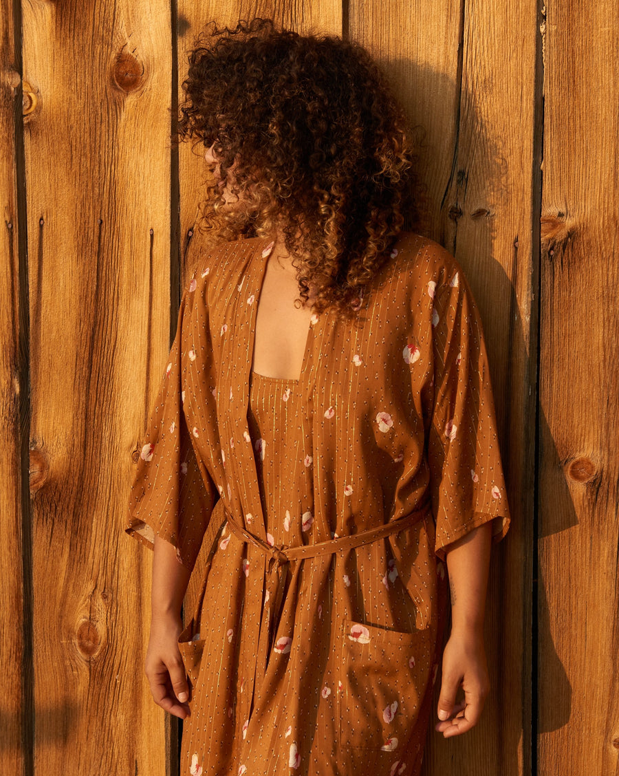 Cara Robe in Golden Chestnut