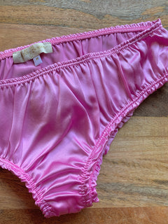 BELLA Panties in PINK Silk