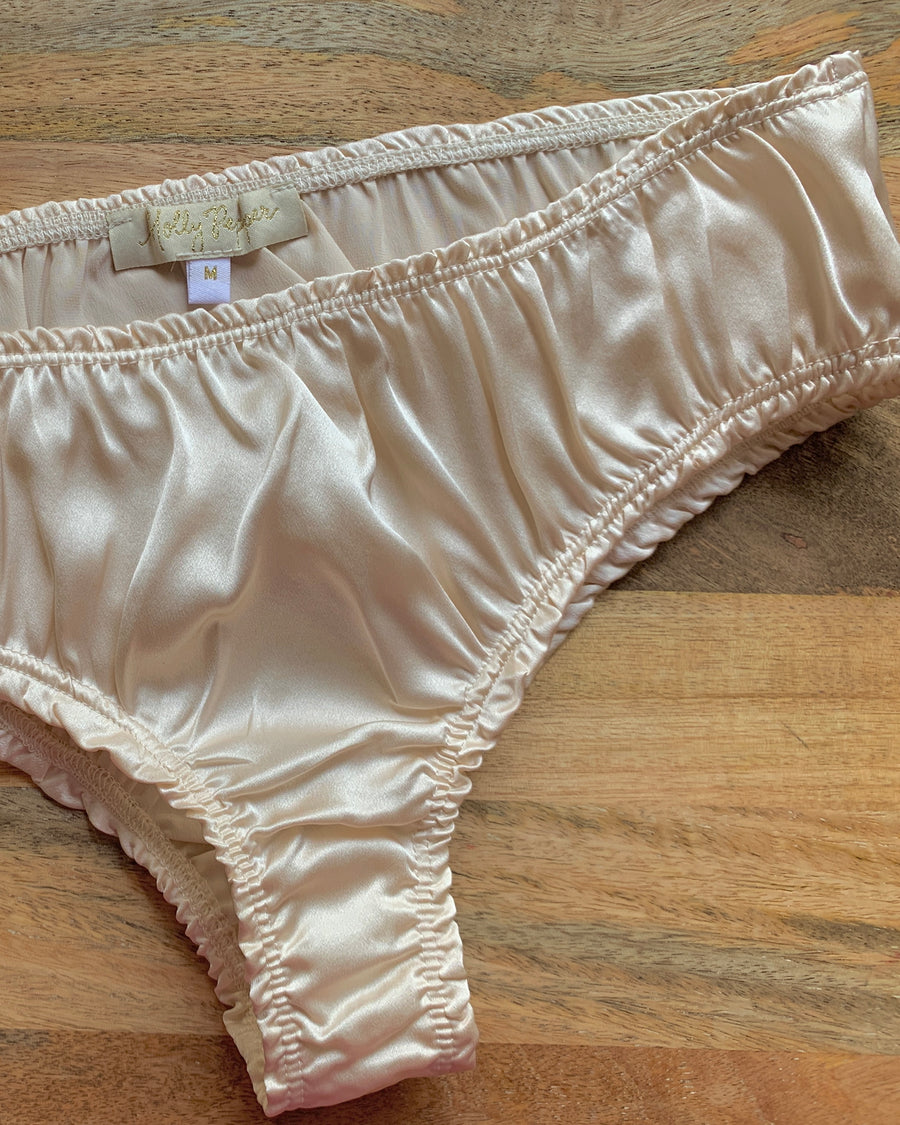 BELLA Panties in Ivory Silk