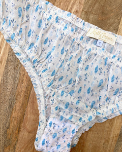 BELLA Panties in Blue Feather