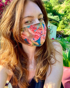 Watercolor Floral Mask