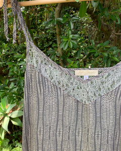 ZOE in Grey Speckle Silk