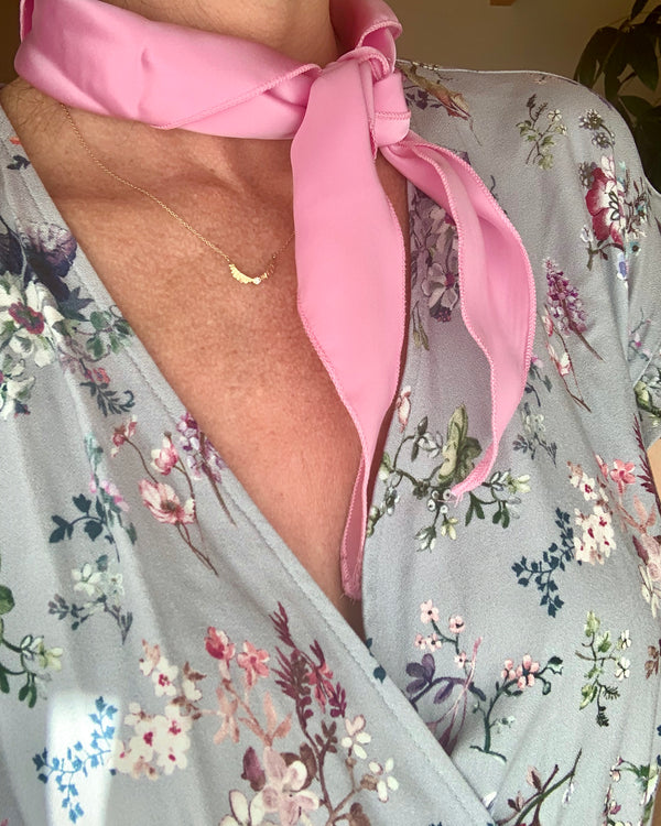 Rose Pink Silk Scarf