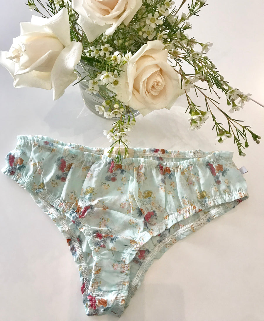 BELLA Panties in Floral Watermint