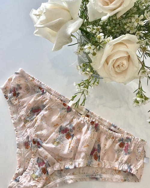 Bella Panties in French Pink Floral Cotton