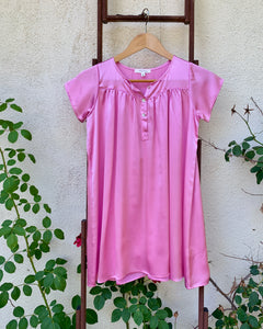 PLAY Dress in Rose Pink Silk