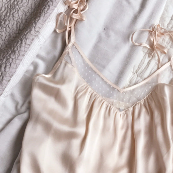 MARLOW Tank in Blush Silk