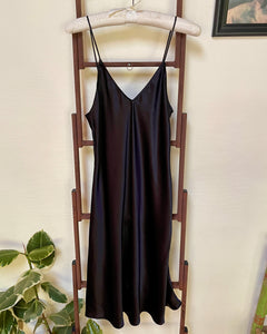 Ivy Silk Slip in Black