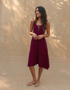 Mona Dress in Rosewood