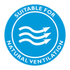 suitable for natural ventilation