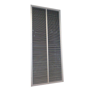 Lobby vent damper and grille 1.0m² free area
