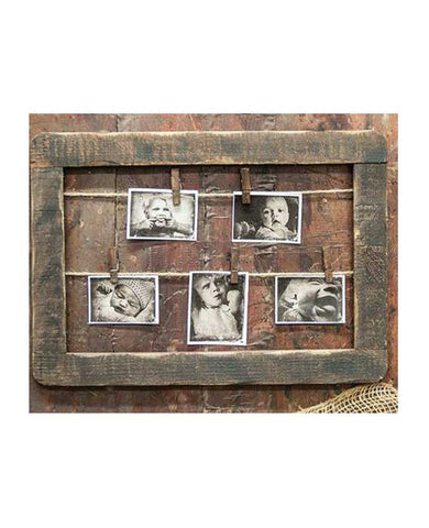 Antiqued Horizontal Wood Frame