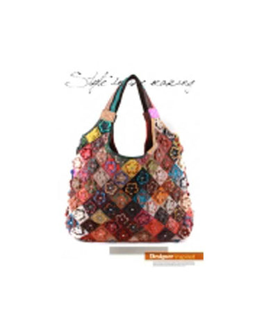 Leather Flower Handbag