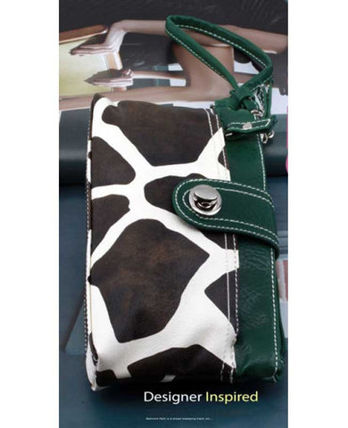 Giraffe Print/Green Trim Wallet