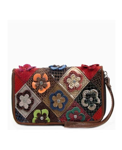 Leather Flower Billfold
