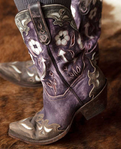 Vintage Arrow Purple Boots